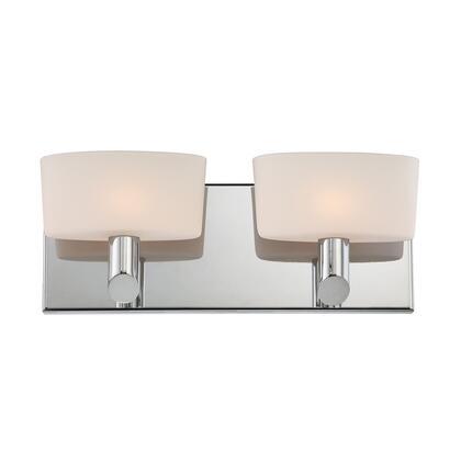 BV6022-10-15 Toby 2 Light Vanity White Opal Glass / Chrome