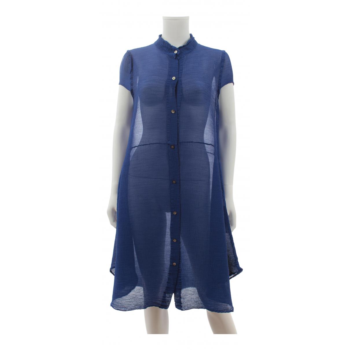 Issey Miyake \N Kleid in  Blau Polyester