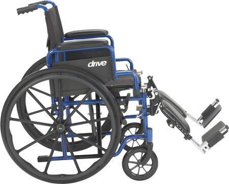 BLS18FBD-ELR Blue Streak Wheelchair With Flip Back Desk Arms  Elevating Leg Rests  18