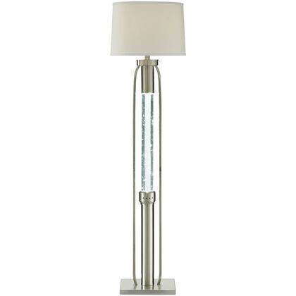 Sinkler Collection 40150 Floor Lamp  LED Light  Glitter Night Light  Drum Shade Fabric  Metal Base Sandy Nickel  in Sandy Nickel
