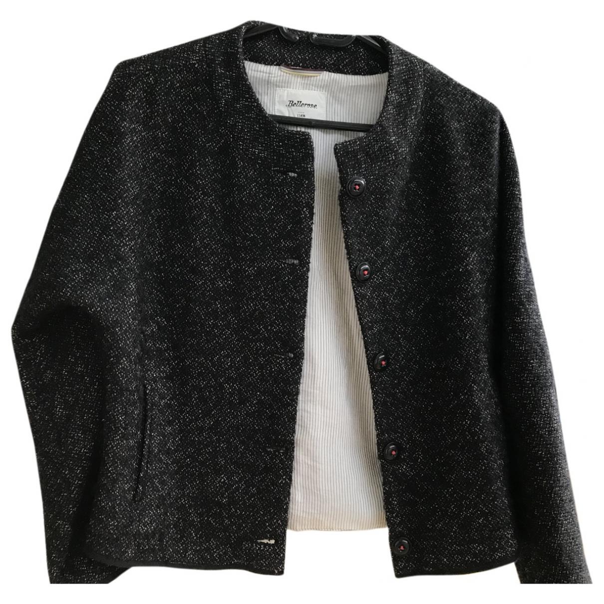 Bellerose \N Jacke in  Schwarz Wolle