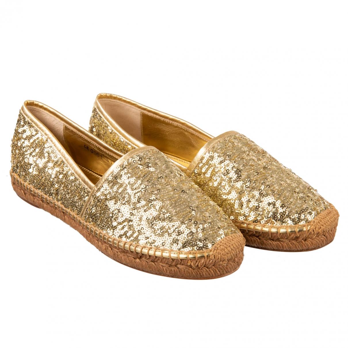 Dolce & Gabbana - Espadrilles   pour femme en a paillettes - dore