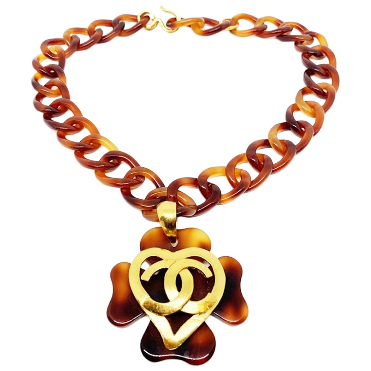 Chanel \N Kette in  Braun Metall