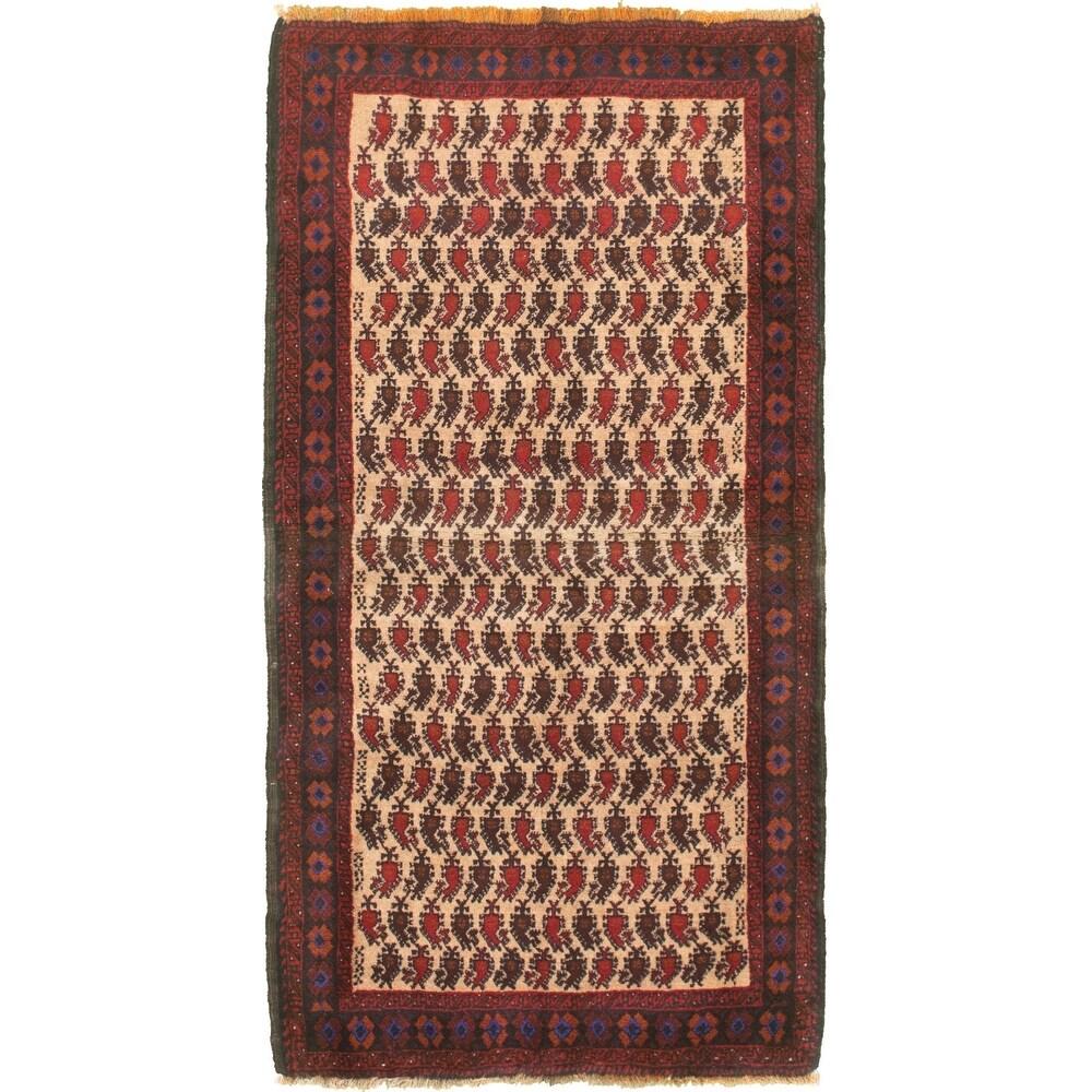 ECARPETGALLERY Hand-knotted Teimani Cream Wool Rug - 3'2 x 6'7 (Cream - 3'2 x 6'7)