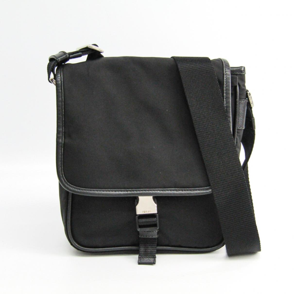 Prada \N Black Cloth bag for Men \N