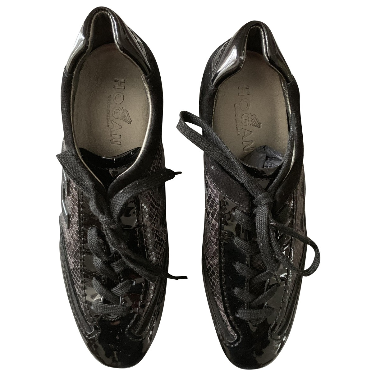 Hogan \N Black Patent leather Trainers for Women 36.5 EU