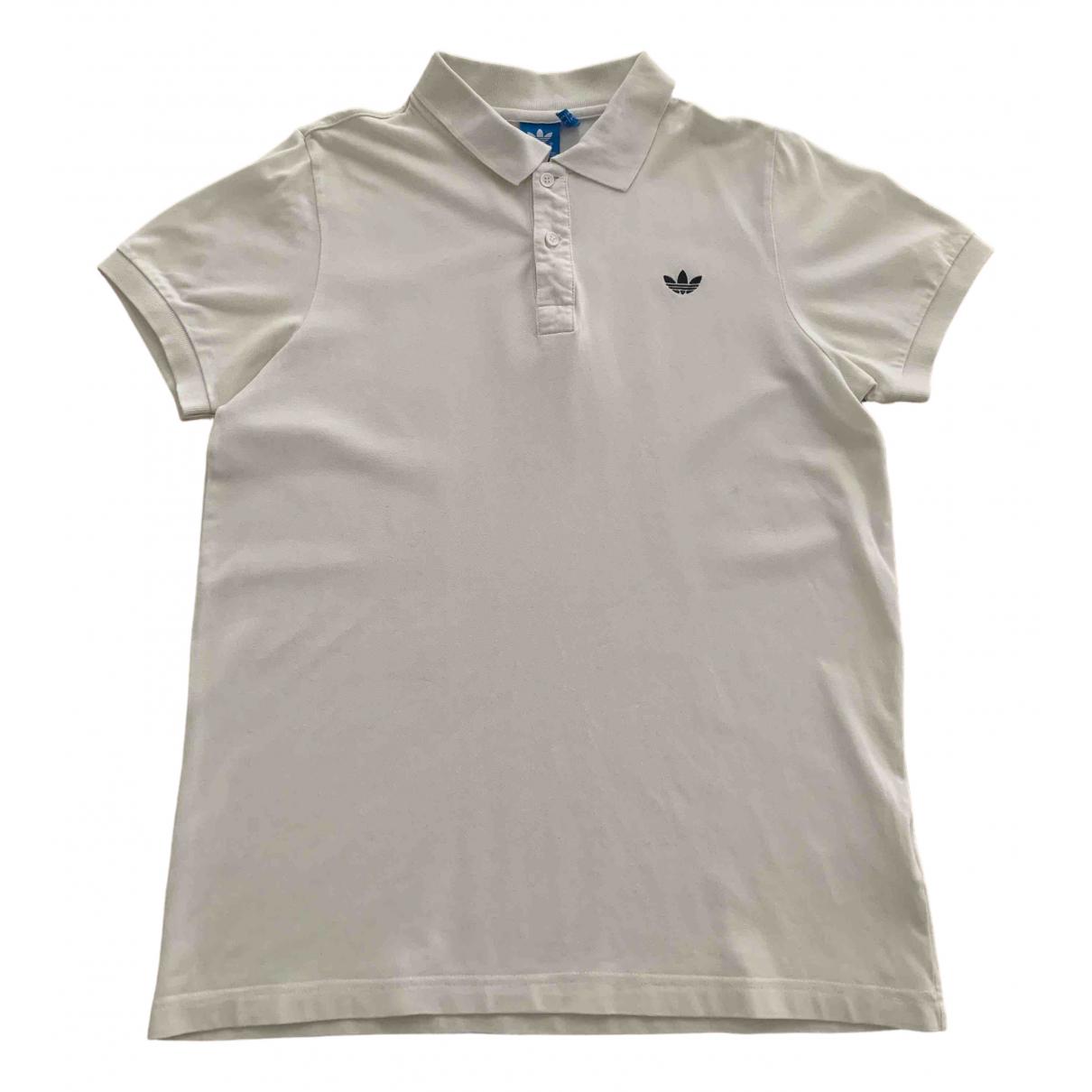 Polo en Algodon Blanco Adidas