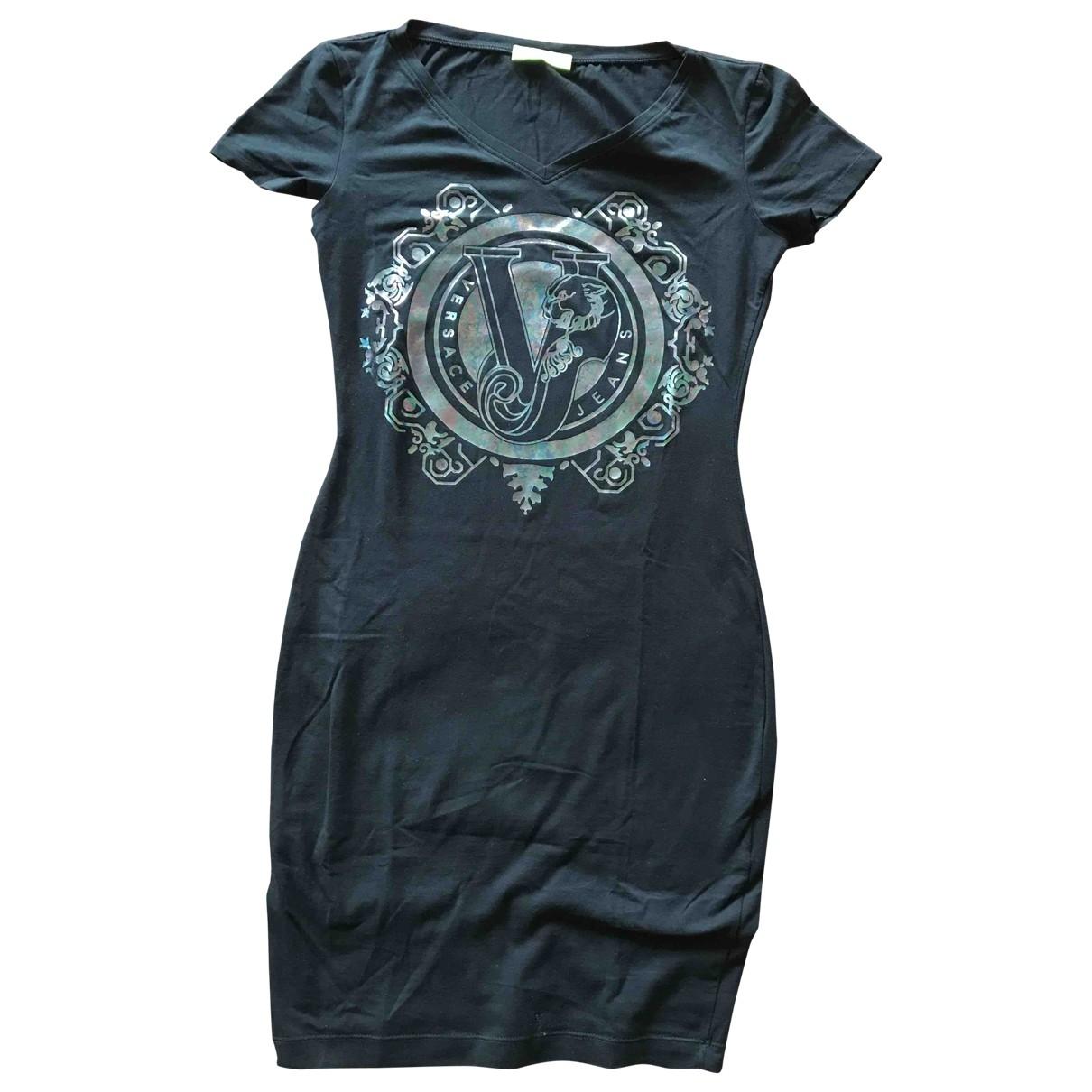 Versace Jeans \N Kleid in  Schwarz Baumwolle - Elasthan