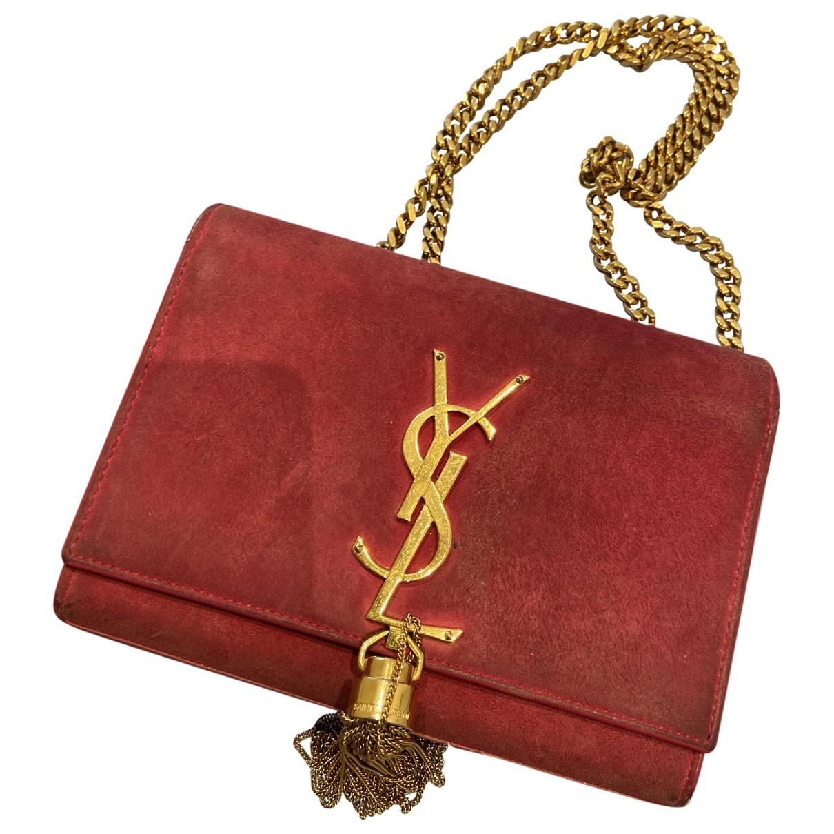 Saint Laurent Pompom Kate Pink Leather handbag for Women \N