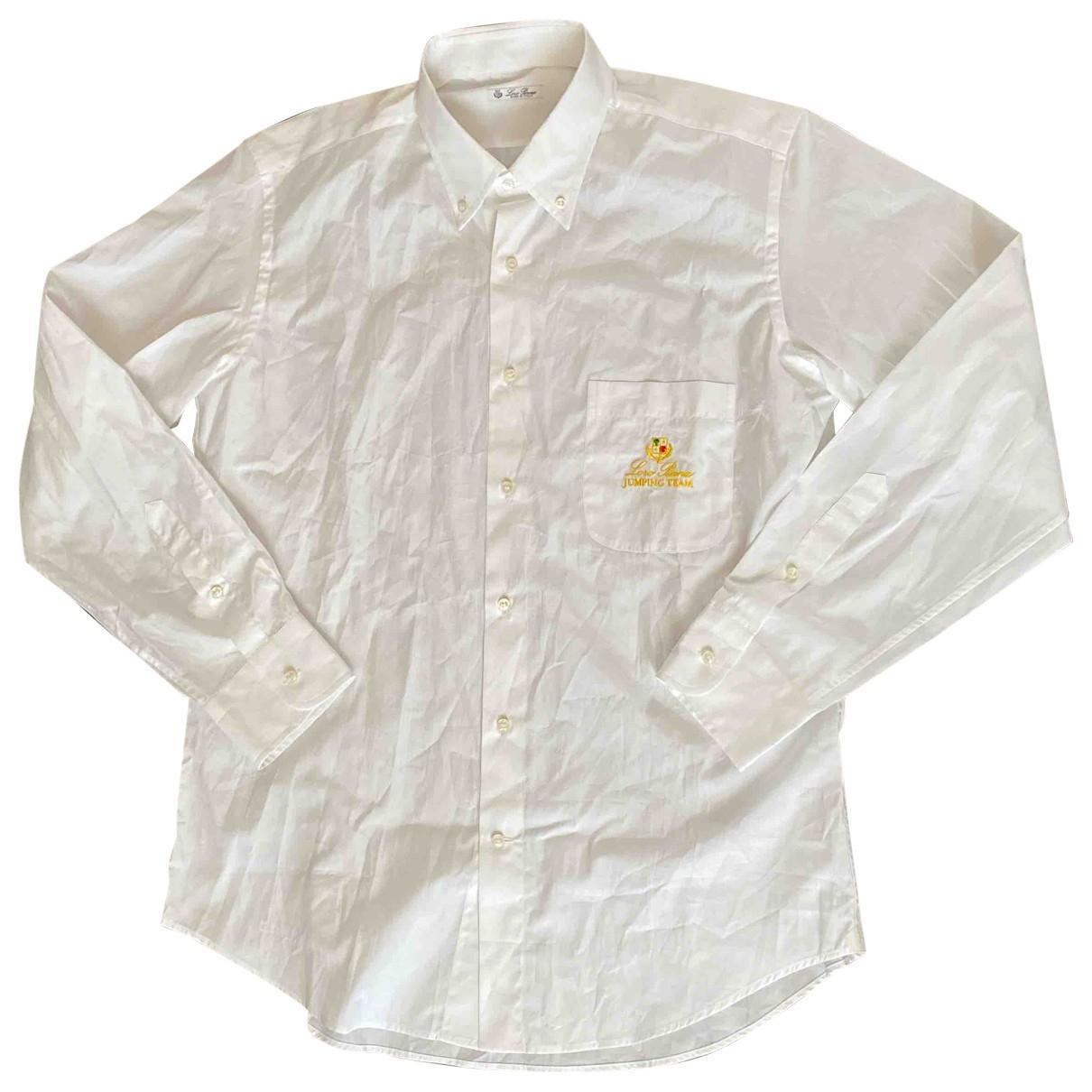 Loro Piana - Chemises   pour homme en coton - blanc