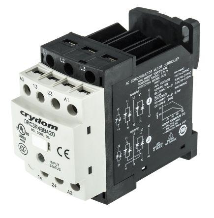 Sensata / Crydom Solid State Contactor, 3P, 120 V ac, 7.6A , DIN Rail Mount, Screw Terminal Type
