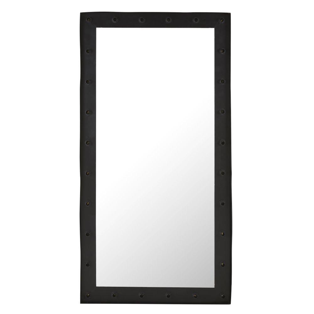 Leichtspiegel aus Metall, schwarz 101x201