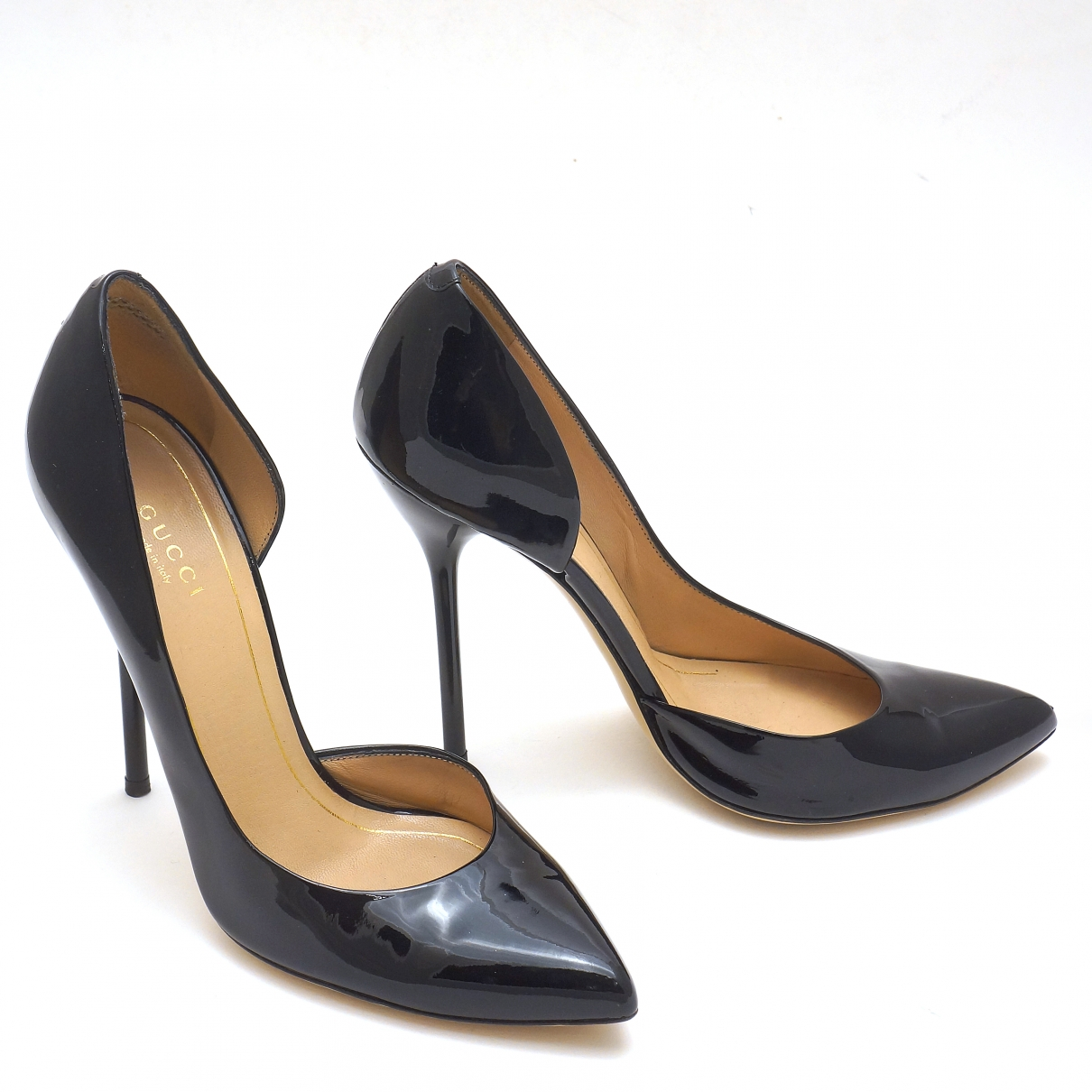 Gucci \N Black Patent leather Heels for Women 39 EU