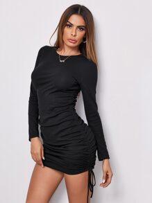 Figurbetontes Kleid mit Kordelzug