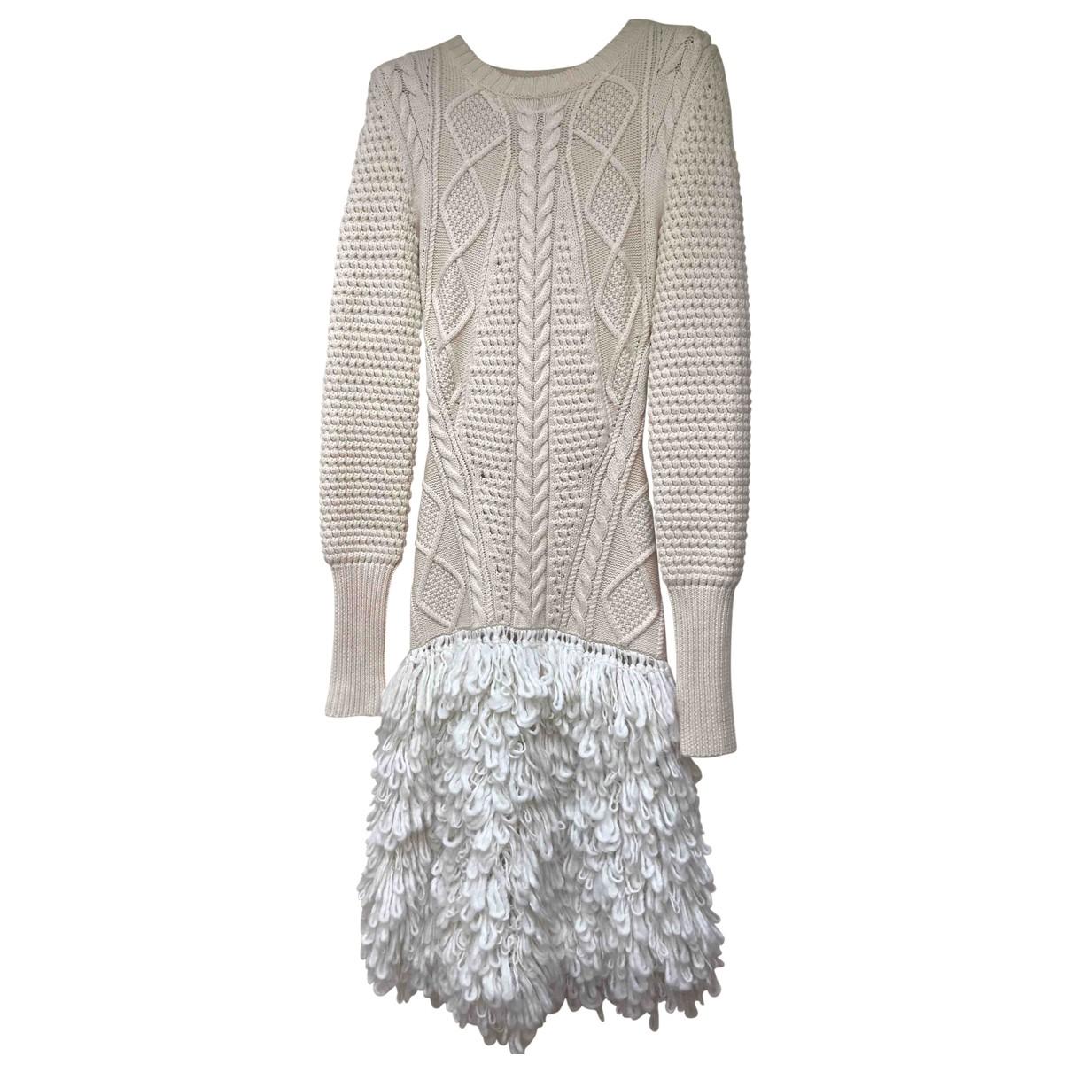 Mcq \N Kleid in  Beige Wolle