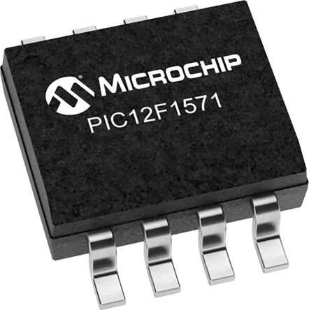 Microchip Technology PIC12F1571T-I/SN, 8bit Microcontroller, Microcontrollers, 20MHz, 8 kB Flash, 8-Pin SOIC (3300)