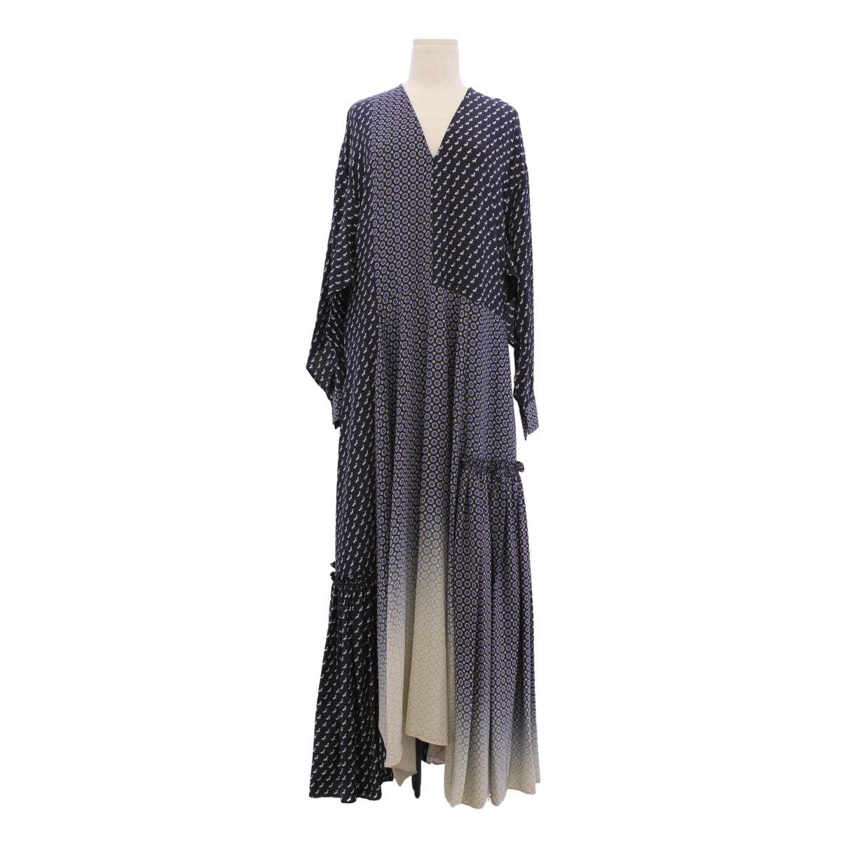 Stella Mccartney \N Navy Silk dress for Women 38 FR