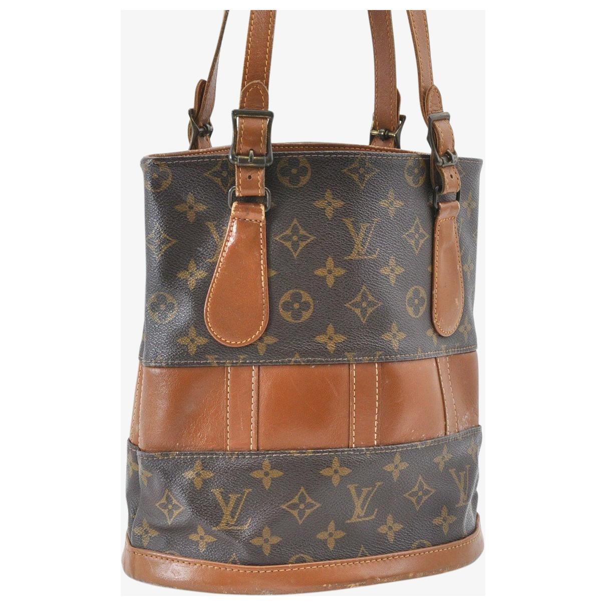 Louis Vuitton - Sac a main Bucket  pour femme en toile - marron