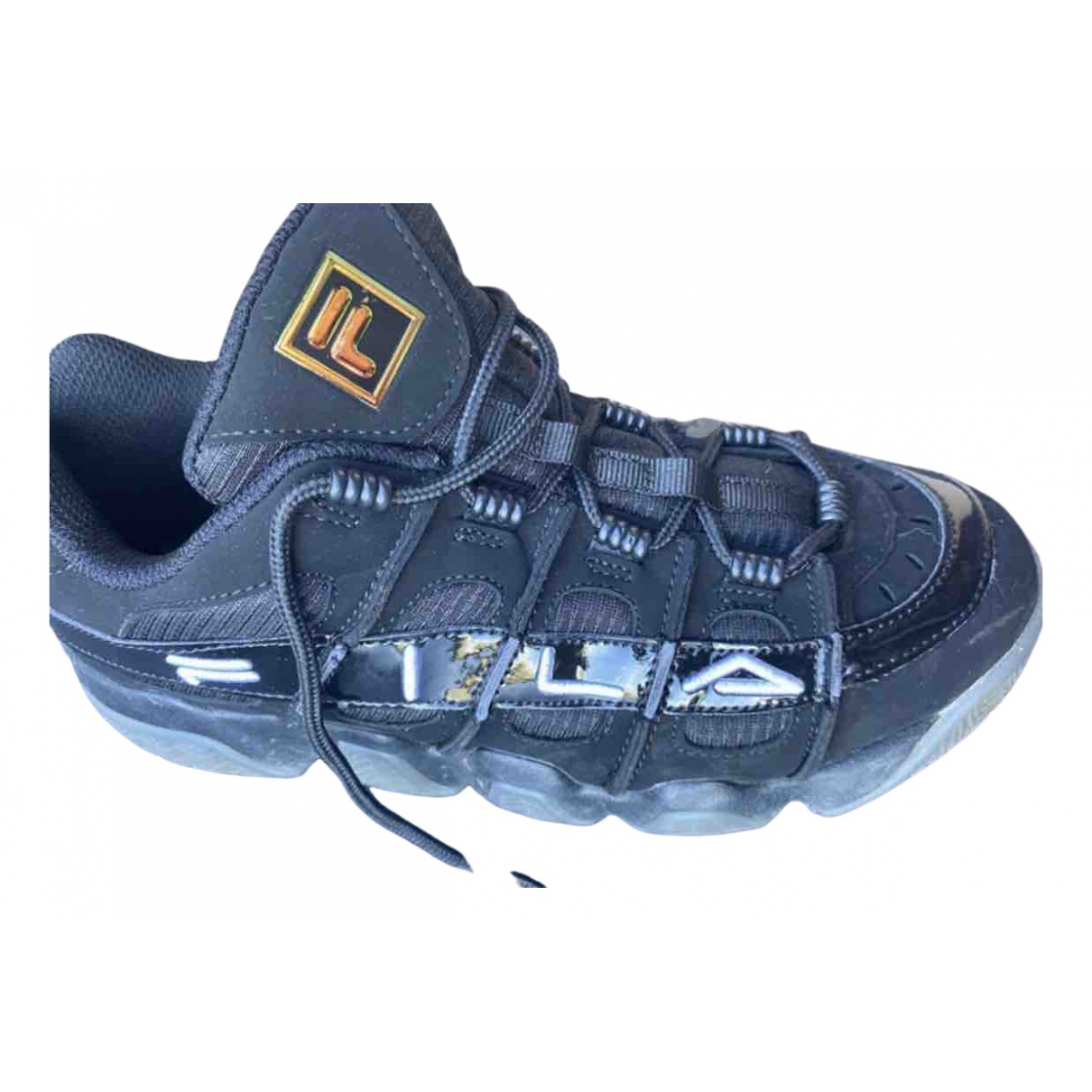 Fila \N Black Leather Trainers for Women 41 EU