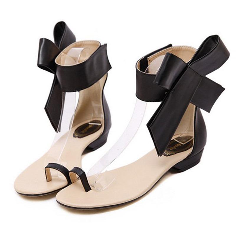 Ericdress Big Flower Toe Ring Flat Sandals