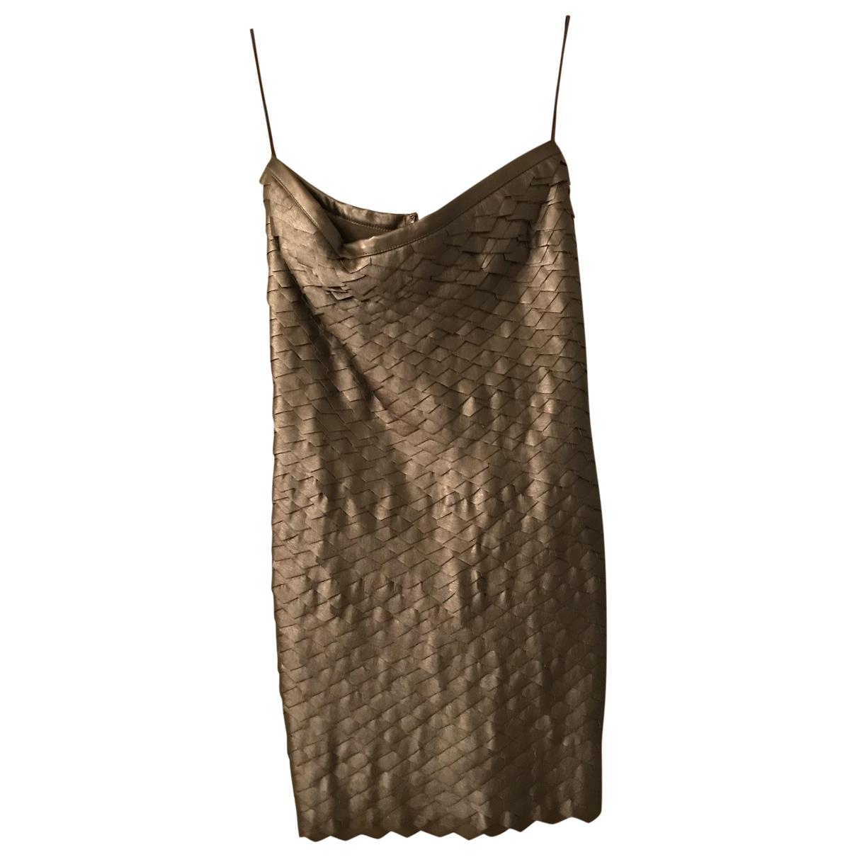 Pinko - Robe   pour femme en cuir - dore