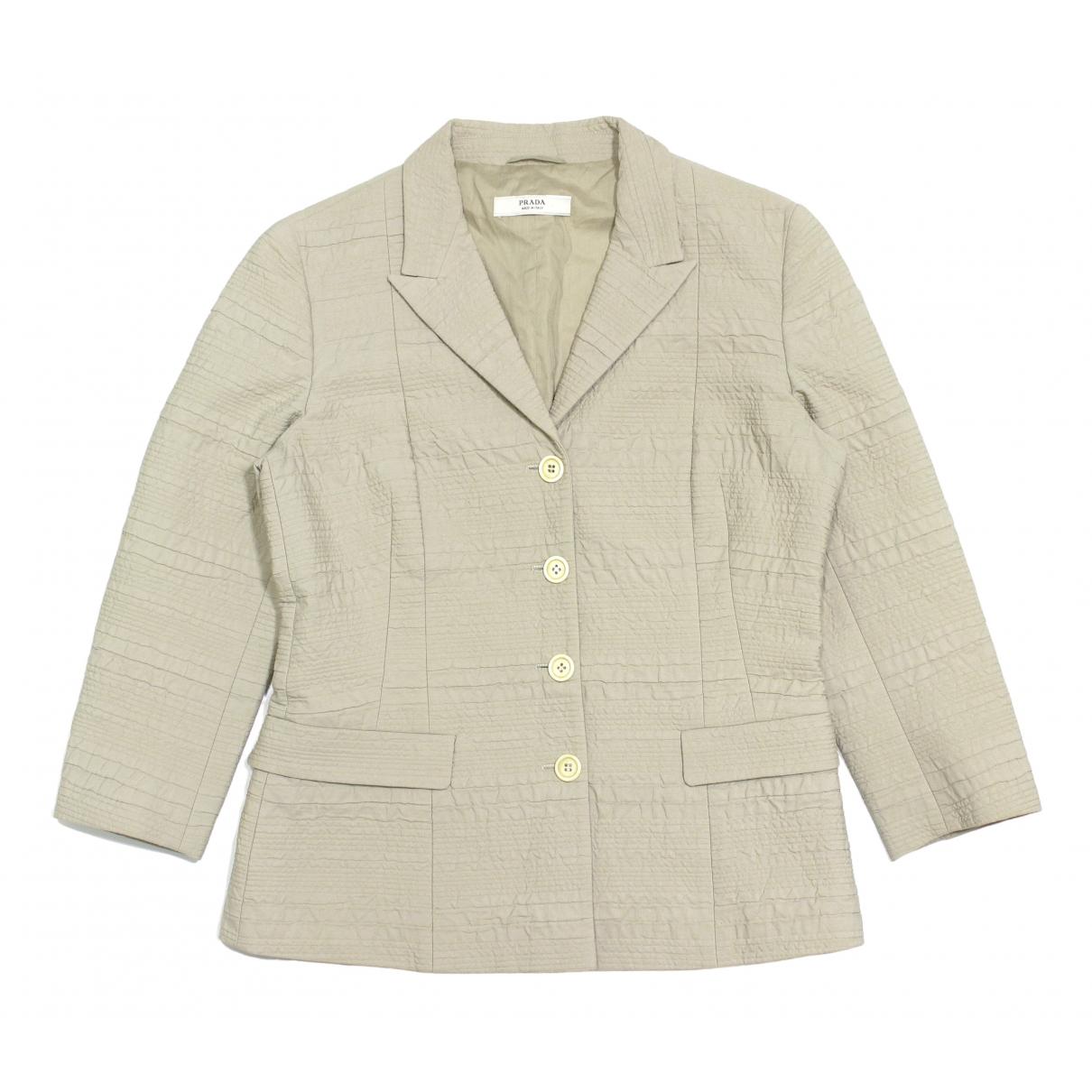 Prada \N Beige Cotton jacket for Women 46 IT