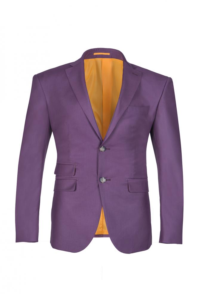 Derniere conception lilas pic revers simple costume de mariage croise dos fente