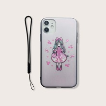 Girl Pattern iPhone Case With Lanyard