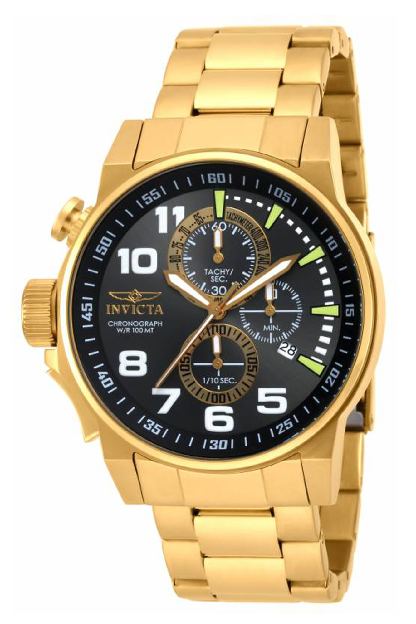 Invicta Men's I-Force 17416 Gold Stainless-Steel Plated Swiss Chronograph Fashion Watch
