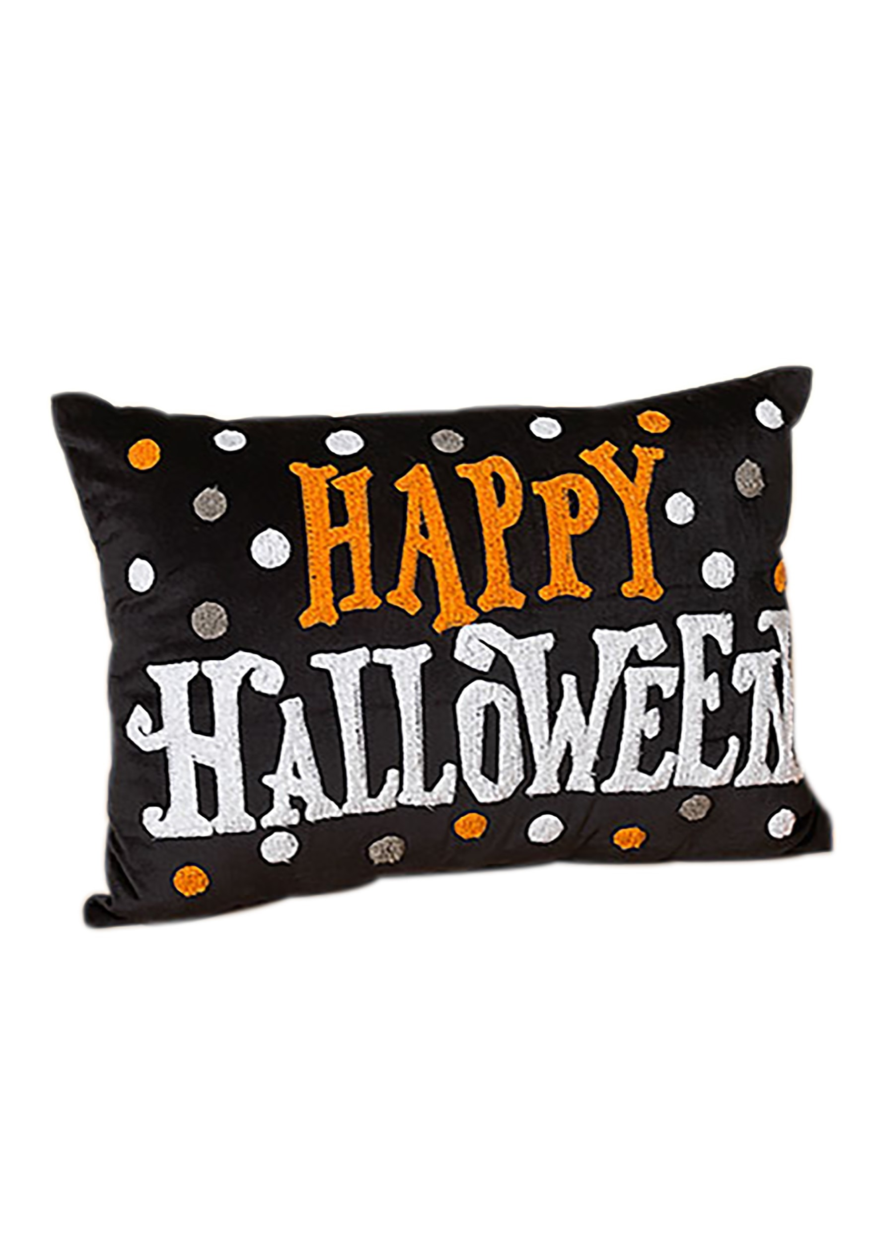 20 Inch Fabric Happy Halloween Pillow