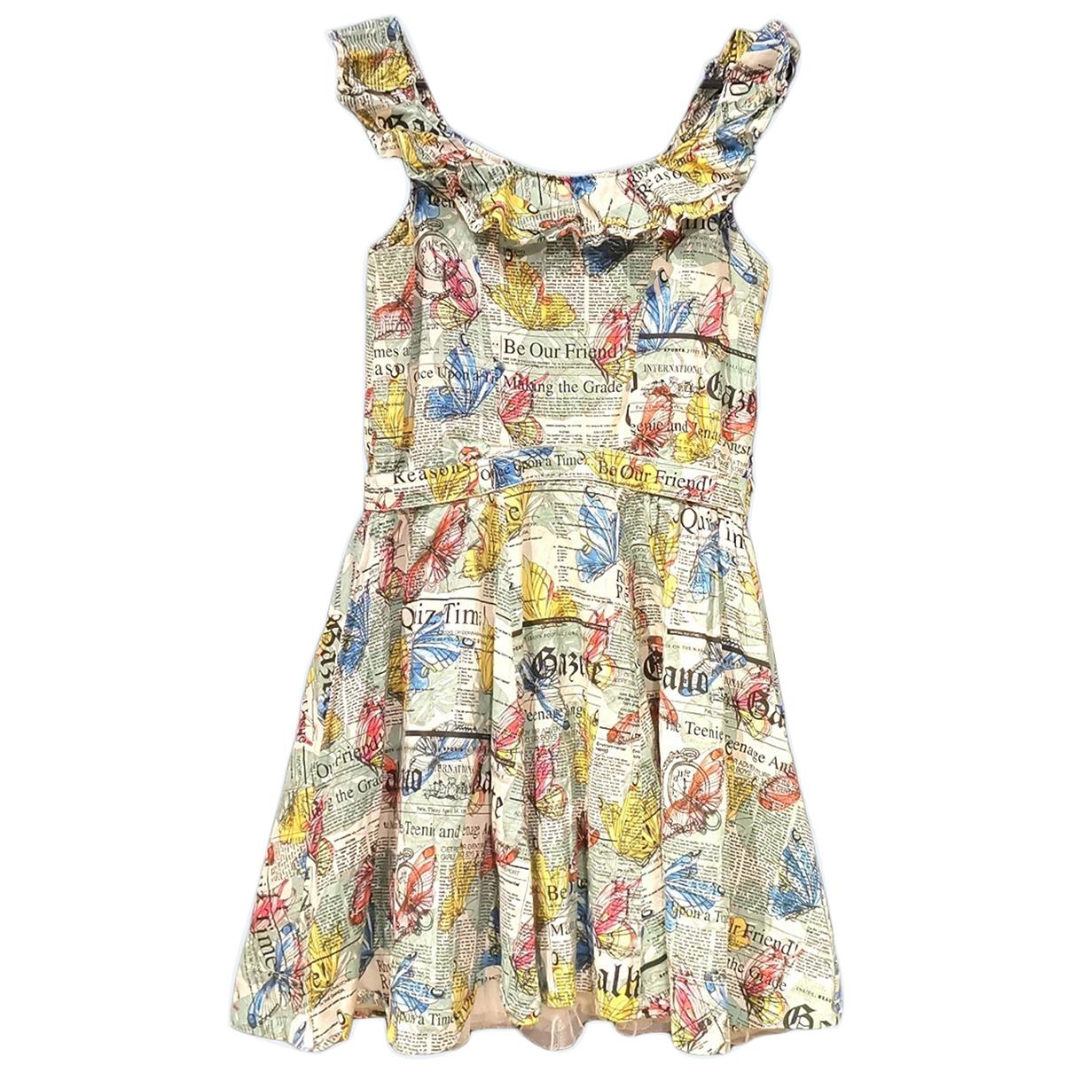 John Galliano - Robe    pour enfant en coton - multicolore