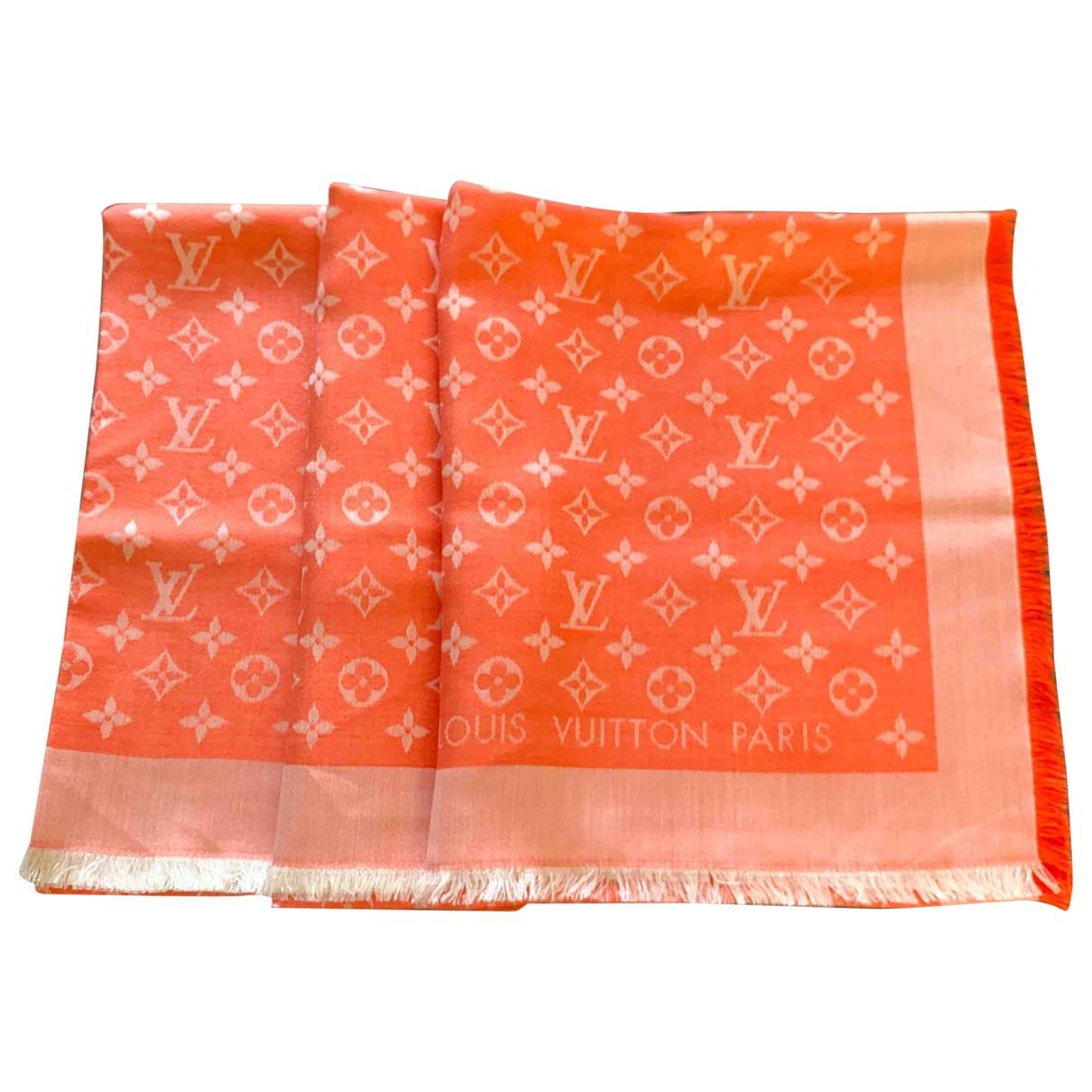 Louis Vuitton Châle Monogram Orange Silk scarf for Women \N