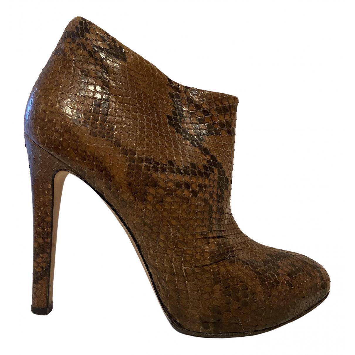 Giuseppe Zanotti - Boots   pour femme en python - marron