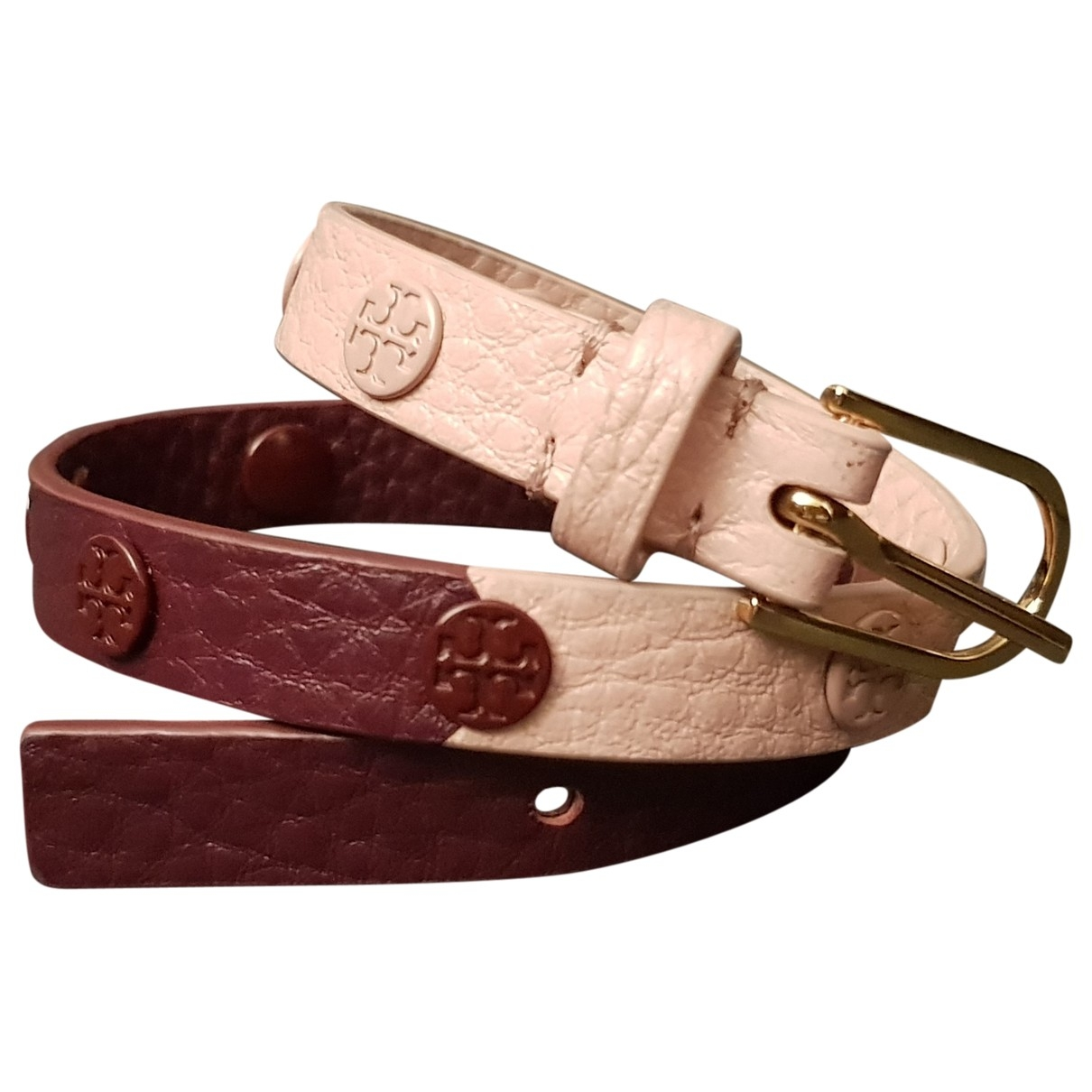 Tory Burch \N Armband in  Bordeauxrot Leder