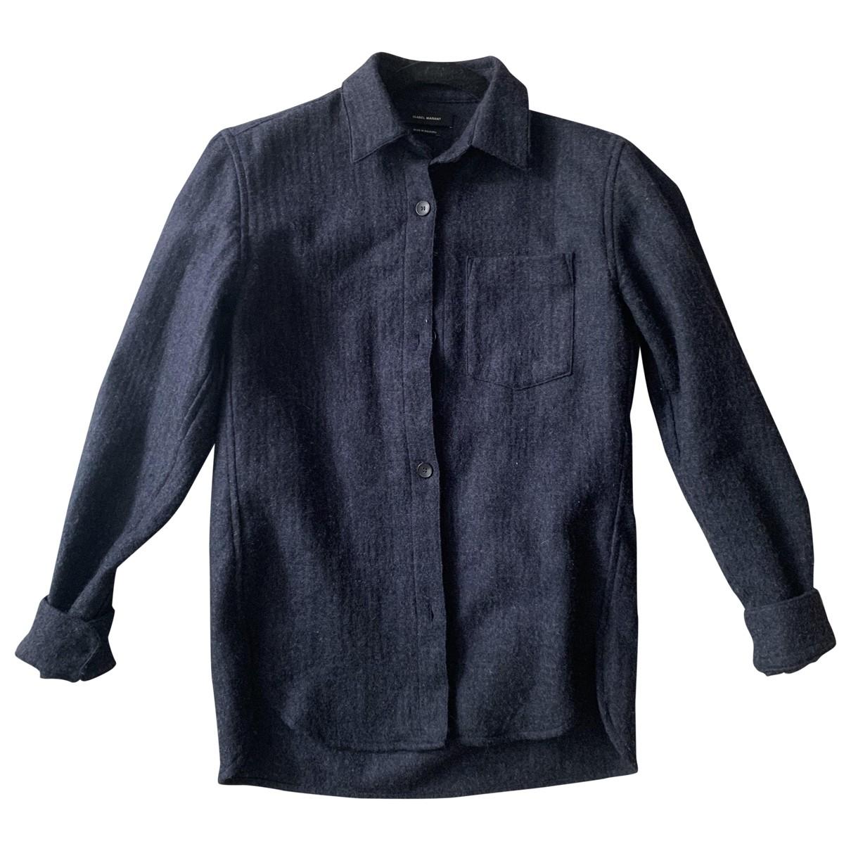 Isabel Marant \N Navy Wool  top for Women 38 FR