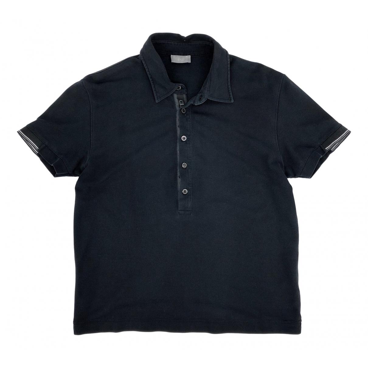 Dior Homme - Polos   pour homme en coton - noir