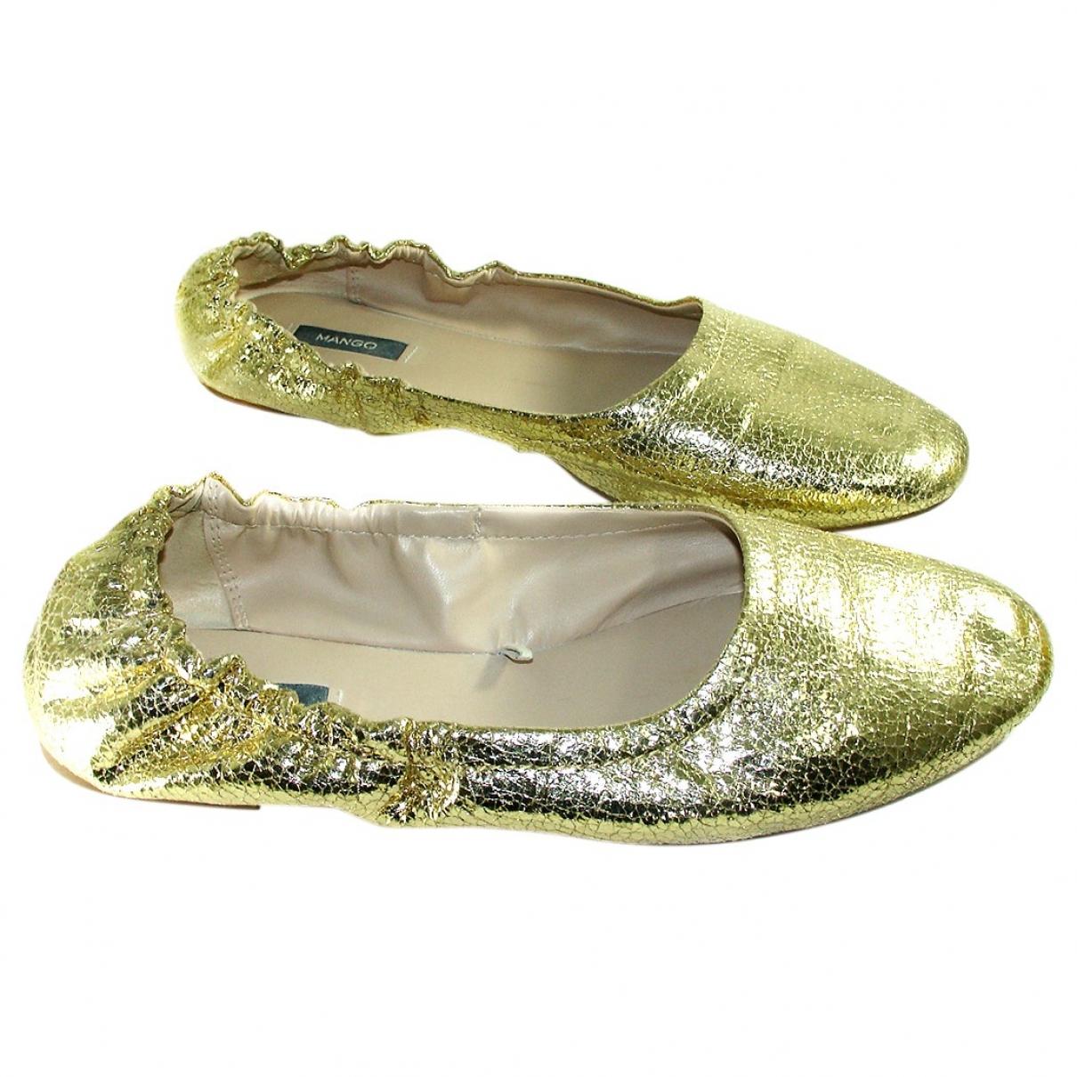 Mango \N Gold Ballet flats for Women 37 EU