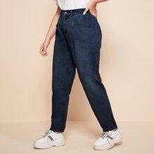 Jeans mit Bleichen Waesche
