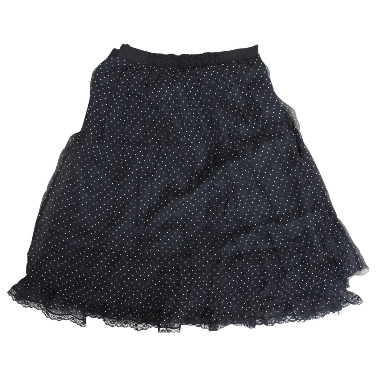 Marella \N Black Silk skirt for Women 42 FR