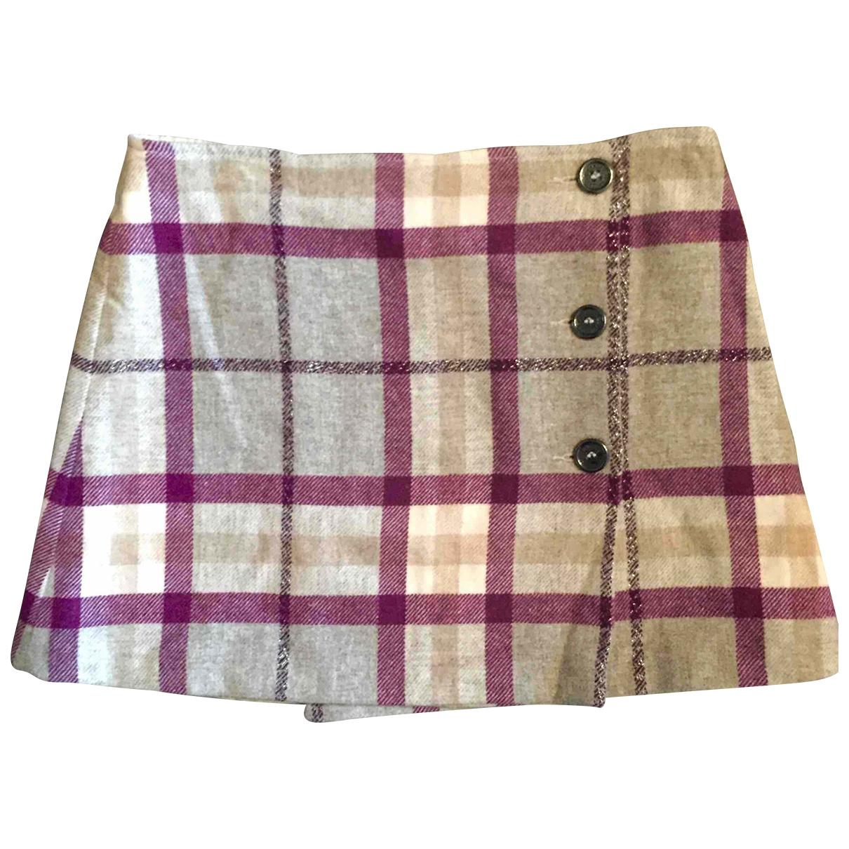 Mini falda de Lana Burberry