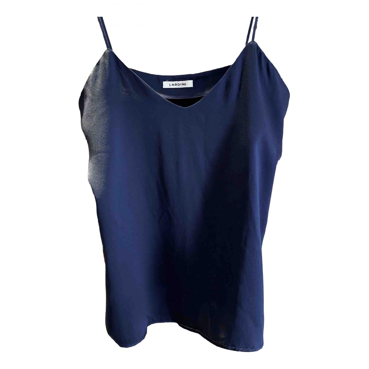Lardini \N Blue Silk  top for Women 42 IT
