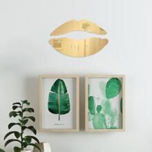 Pegatina de pared con espejo con estampado de labio