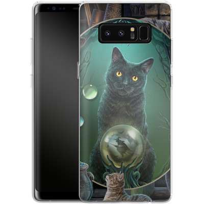Samsung Galaxy Note 8 Silikon Handyhuelle - Magical Cats Montage von Lisa Parker