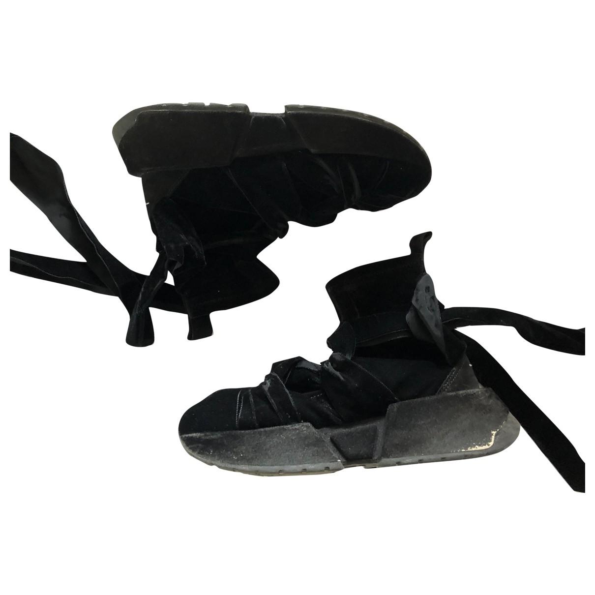 Mm6 - Baskets   pour femme en velours - noir