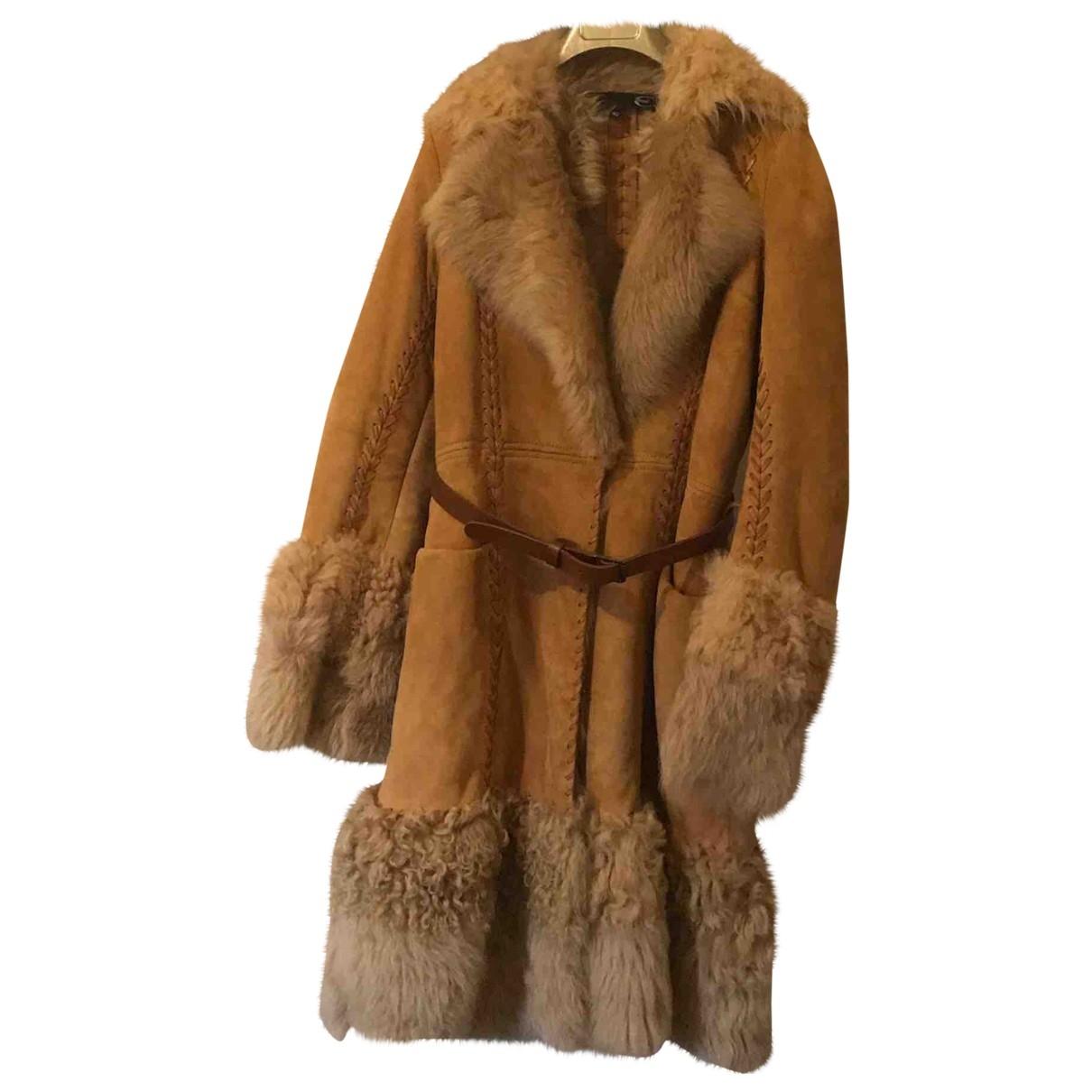 Just Cavalli - Manteau   pour femme en agneau de mongolie - beige