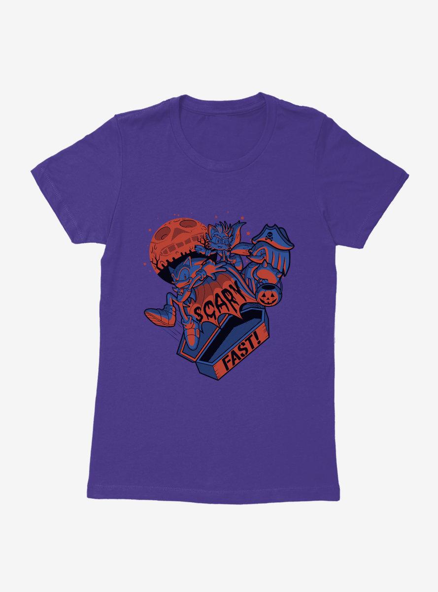 Sonic The Hedgehog Halloween Scary Fast Womens T-Shirt