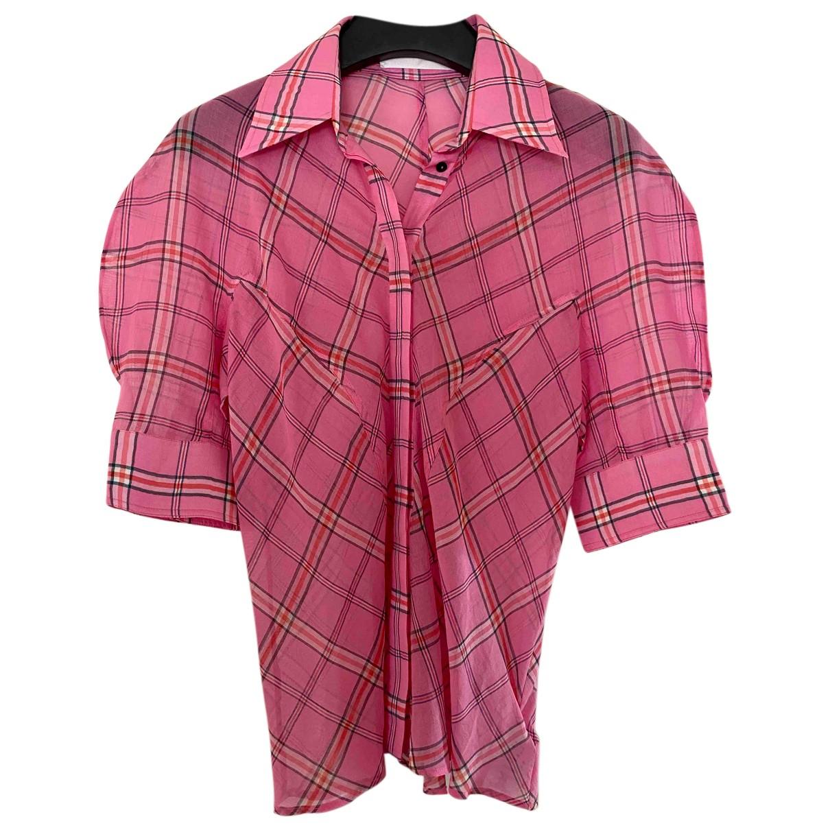 Victoria, Victoria Beckham - Top   pour femme en soie - rose