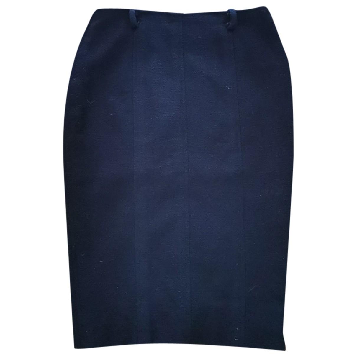 Chanel - Jupe   pour femme en laine - marine