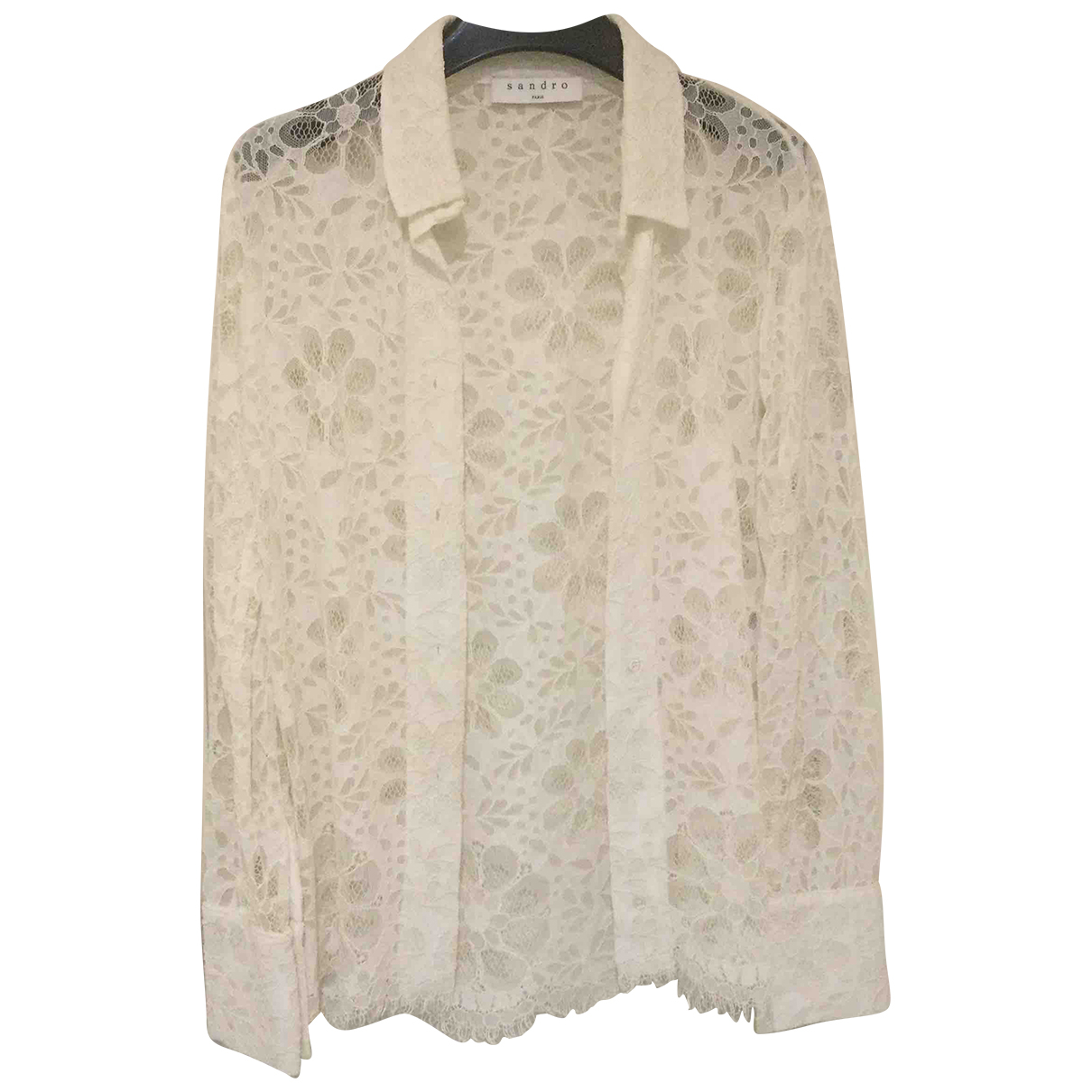 Sandro N White Lace  top for Women 1 0-5