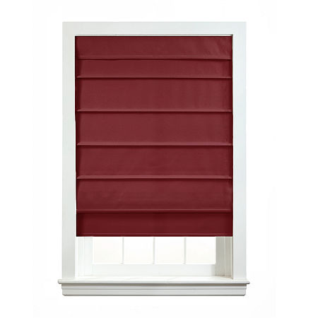 Home Expressions Savannah Cordless Roman Shade, One Size , Red
